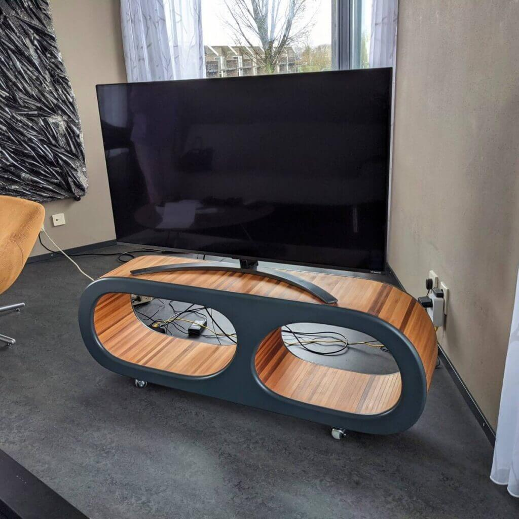 Mid Century TV console in living