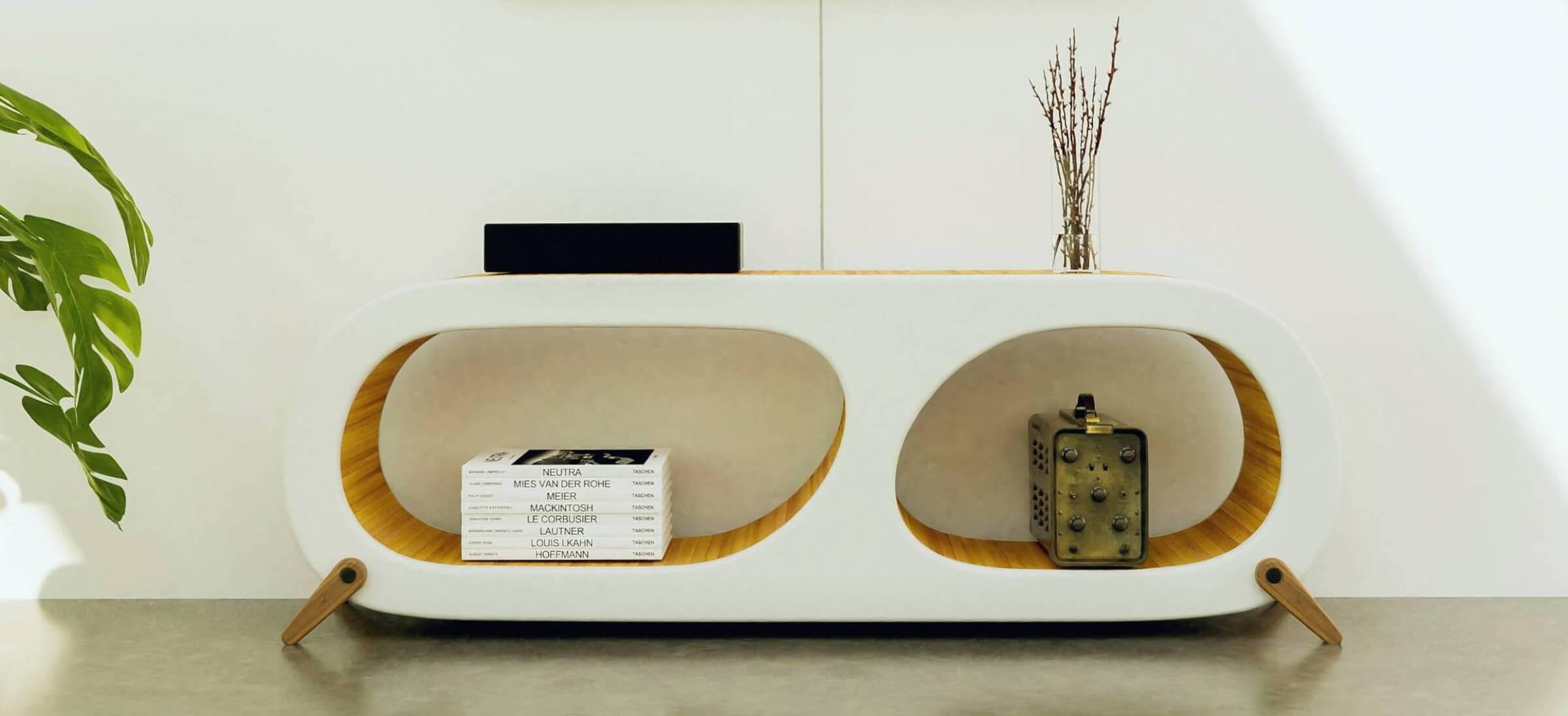 Design tv meubel in woonkamer