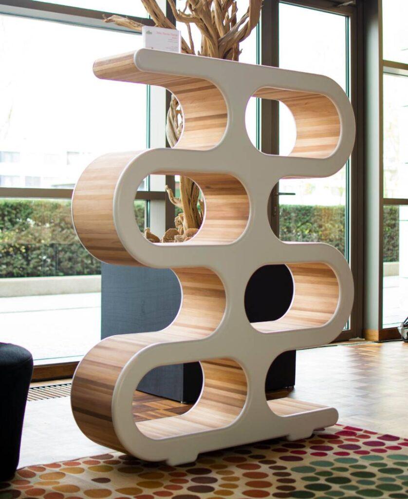 Bookcase room divider Dutch Design Hotel